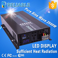 2015 High Quality 2500W 12V/24V/48V DC To 120V/220V AC Pure Sine Wave Power DC To AC LED Display Off grid Inverter 2500w