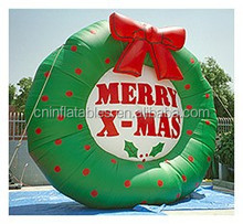 Hot sell inflatable christmas decoration for holiday/Giant Inflatable Merry X-Mas Wreath