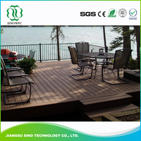 Factory price Wood Plastic Composite wood polymeric wpc decking board decking