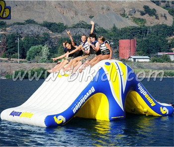 inflatable floating water slide, inflatable water sport toys for warer park D3056