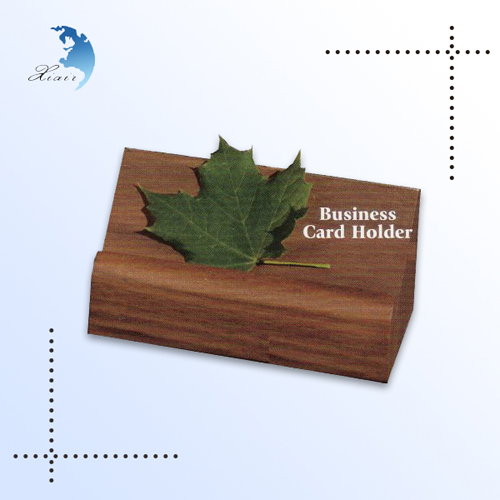High quality custom design wooden name card wooden for Wood business card holder plans