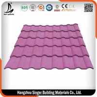 Asian Style Types Roofing Sheet , Hot Sale Roof Tiles Made in China