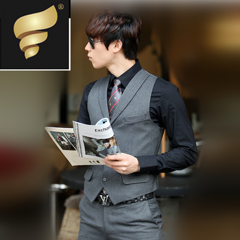 slim men suit vest