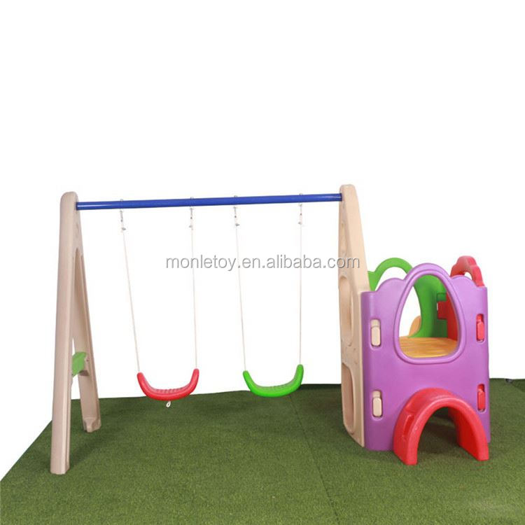 Funny multifuntion kids garden playground equipment slide swing set