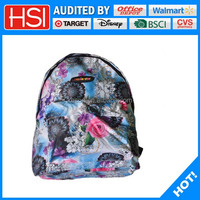 2016 best selling polyester school backpack for girls