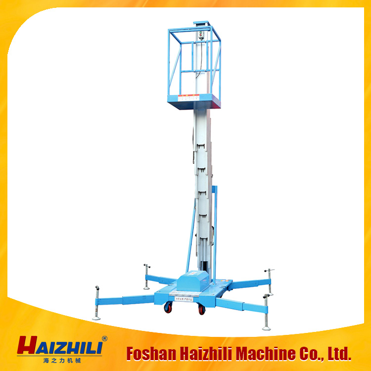 8m 10m Height good quality aluminum single mast vertical one man lift tables