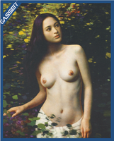 Naked beautiful girl nude Classical oil painting