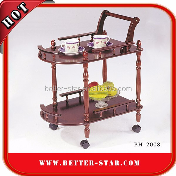 Classical kitchen equipment wooden beverage trolley wine and liquor cart/aircraft drink service cart liqueur trolleys