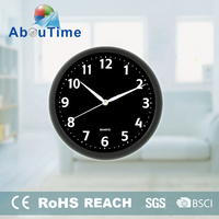 10 inch cheap customized round home decor plastic wall clock made in China