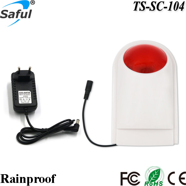 NEW Wireless waterproof external flash LED strobe siren for autodial GSM Alarm outdoor buzzer