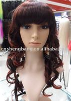 Fashion Whosale Wigs 100% synthetic hair wig Curly
