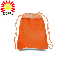 Modern style recycled natural organic promotion gift backpack 100% canvas cotton drawstring bag