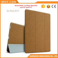 2017 New Case For iPad 9.7 inch Smart Wake-up Sleep Stand Ultra-thin Folding PU Leather Flip Cover Pouch 9.7'' Funda Coque