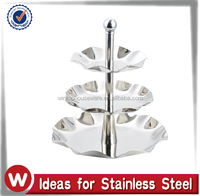 3 Tier Stainless Steel Flower Shape Cake Stand