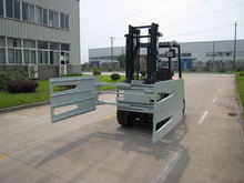 hydraulic forklift attachment bale clamp