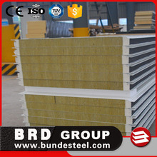 Alibaba Low cost 50mm thickness rock wool sandwich panels for wall