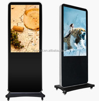 Hot sale floor stand lcd touch screen advertising display with built-in media player