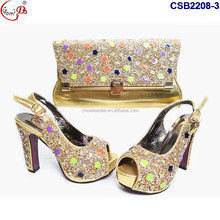 Available Shinny crystal high heel red shoes and bag to match evening party women size 43 shoes and bag in chowleedee