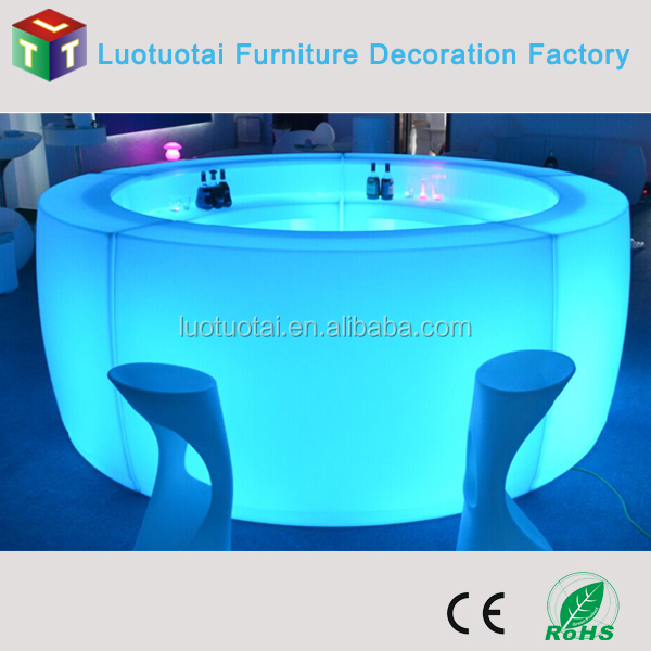 Wholesale PE material led round bar counters design