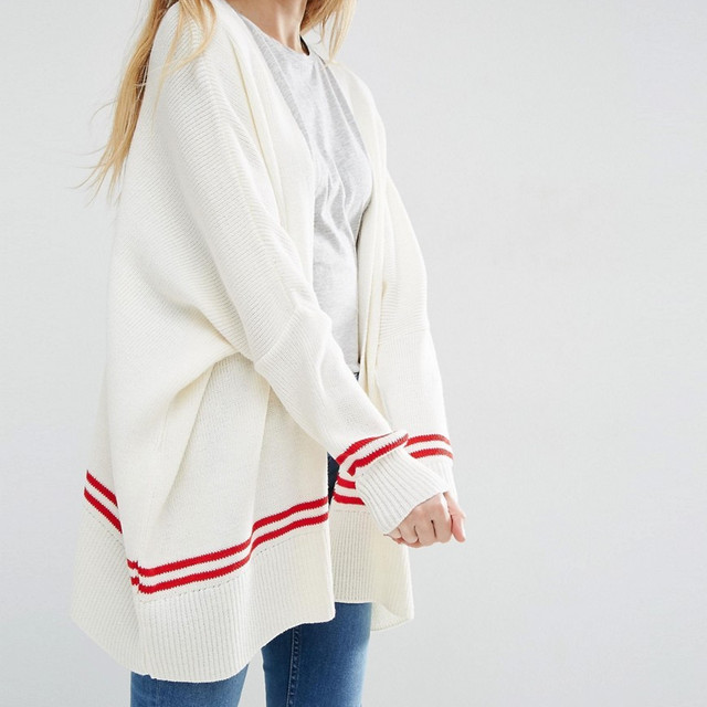 custom design white wool sweater wholesale women sweater jacket China factory Merino wool cardigan