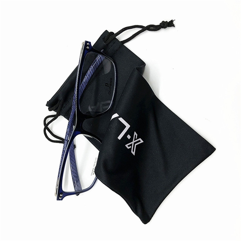 Custom Logo Printed Microfiber Drawstring Sunglasses Bag