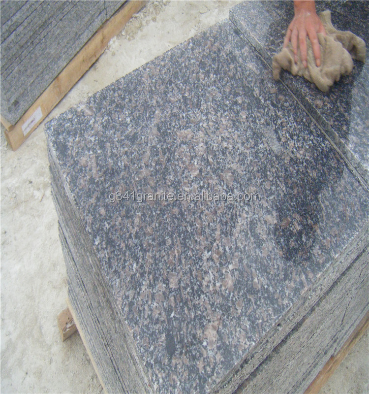 Imported factory natural stone polished imperial fantasy brown granite