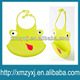 animal print cute smart silicone rubber baby bibs/easy wash/safe