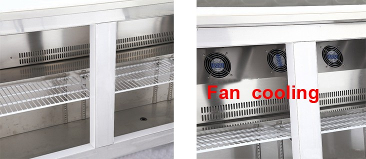 stainless steel Pizza Prep Table Refrigerator refrigerated pizza table restuarant equipment
