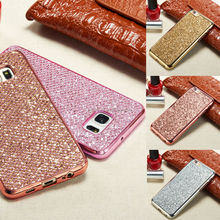 Luxury Glitter Bling Diamond TPU Soft case For Samsung S6 S6 edge S7 S7 edge note 4 note 5