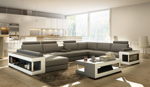gray color couch living room sectional sofa modern sofa genuine leather sofa