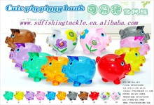 Alibaba wholesale lovely pig designs plastic money put into money