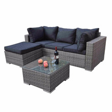 MODA Europe style high quality cafe garden set imitationmoden design comfortable manufacturer outdoor rattan furniture