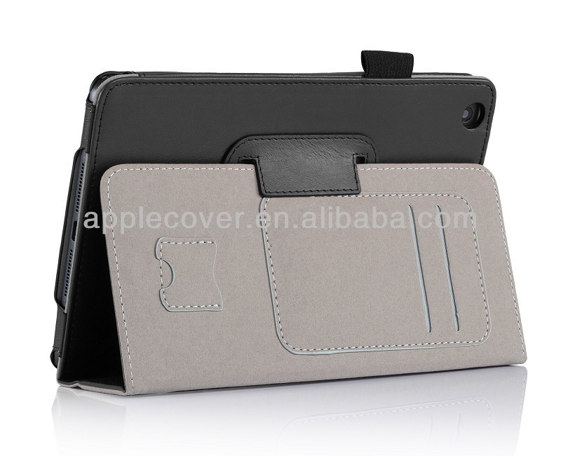 Hotselling tablet cover case for ipad with card slots,tablet protective carrying leather case for ipad mini2