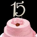 Number 15 rhinestone Cake Topper Wedding Anniversary Birthday Number cake topper