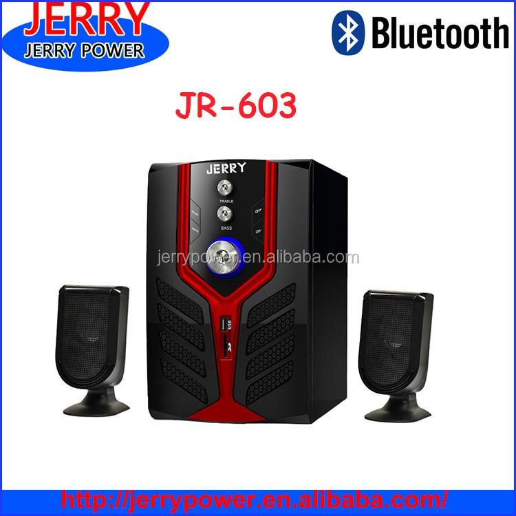 2016 New design led bluetooth speaker 2.1 home theater speaker with dj sound system