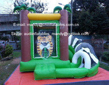Inflatable Slide Castle, Inflatable Bouncer Slide Tiger Combo for Sale