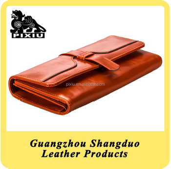 Alibaba Express Low Price Custom Colorful Leather Lady Wallet with Good Service