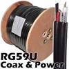 Quad shield coax cable RG59 type