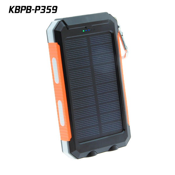 Waterproof Solar charger 10000mAh Portable Cell phone Power Bank with Dual USB