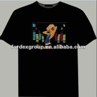 China manufacturer Hot selling EL ladies flashing el t shirt