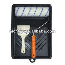 Fiber roller and brush paint tray set - 401F Normal 4 in 1