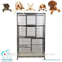 Animal hospital instrument stainless steel three layer cage for pet