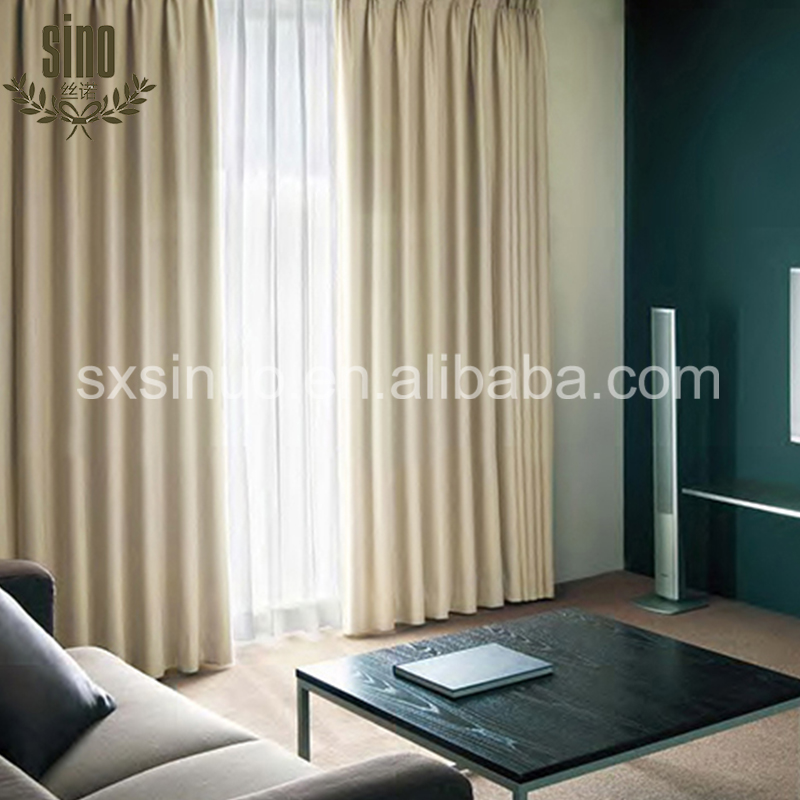 Wholesale thermal insulate solid blackout fabric curtains