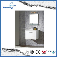 Hot sale I shaped hotel bathroom vanity with light made in china