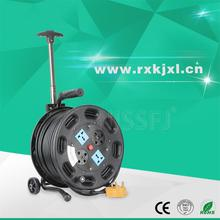 Hot sales industry 250V extension cord reel 4 sockets cable reel drum