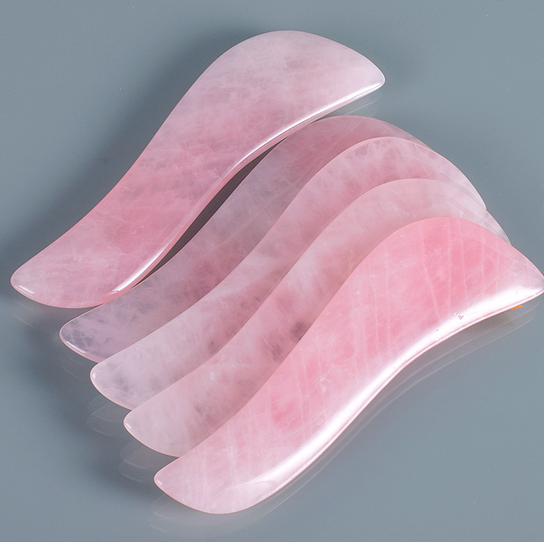 Guasha board Facial Tool Rose Quartz Gua Sha