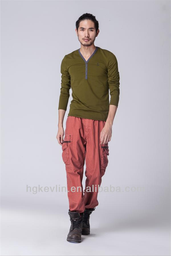 Lantengteng brand high quality red trousers 2014