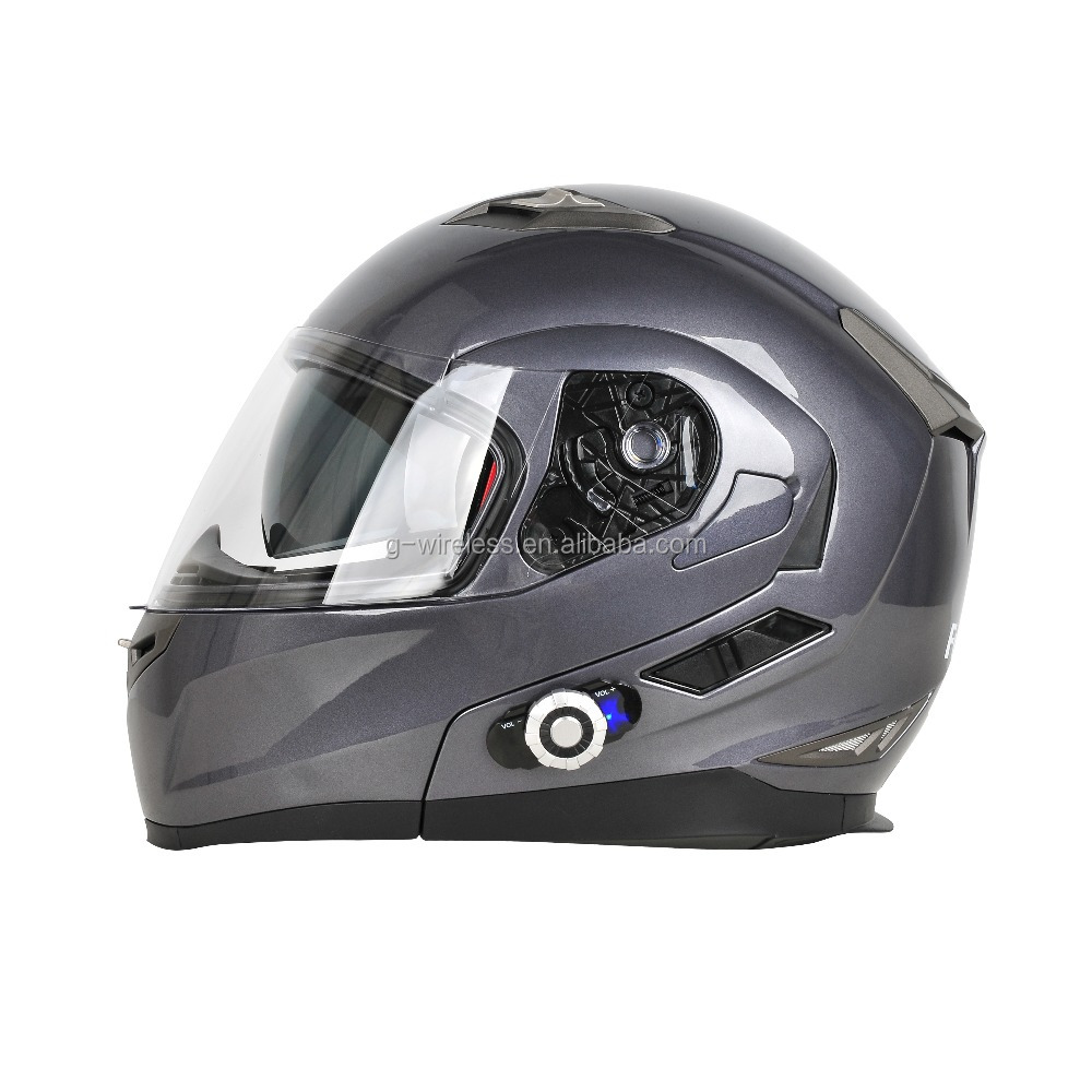 Full face FDC bike helmet built in Bluetooth bicycle 300m headset helmet wireless with bluetooth