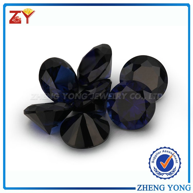 Wholesale Sapphire Blue Round Cut Facet Synthetic Corundum Rough