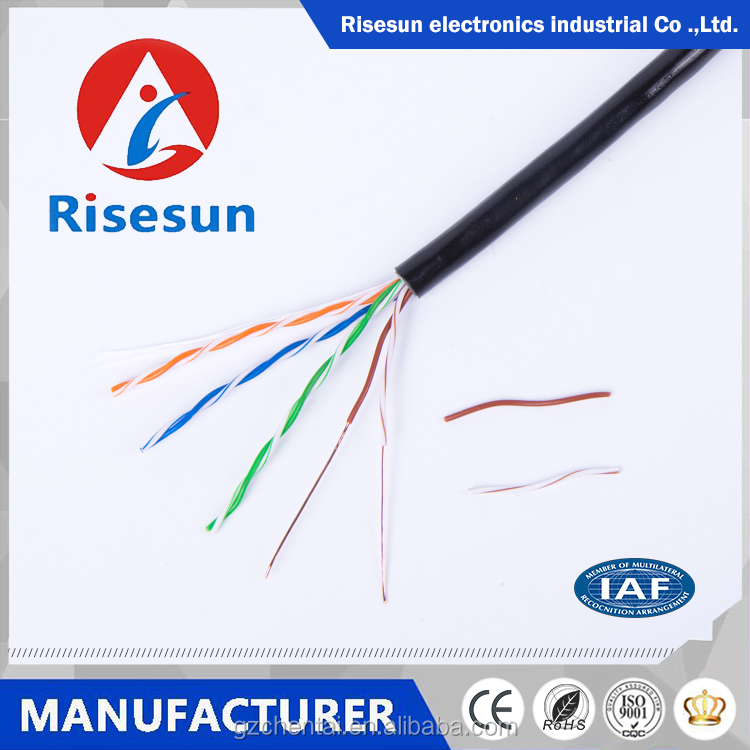 Guangzhou risesun factory supply cat5e outdoor lan cable with high block-water performance